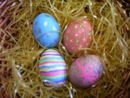 Painted eggs2 by crimsonphotostock