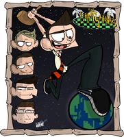 Planet Smashers Shirt Design 1 by mr-insomnia777