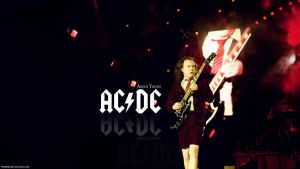 Angus Young Wallpaper by phideki