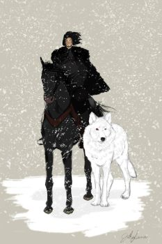 Jon Snow by teawi