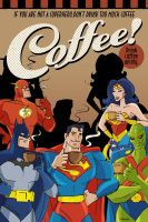 Superheroes and the coffee by yanb