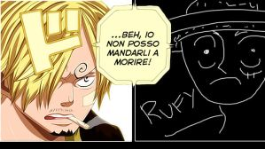 One Piece 729: Sanji and Rufy by loreXII