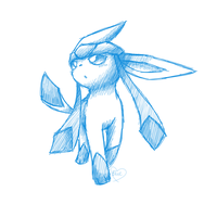 Glaceon SketchArt 2 by Bluekiss131