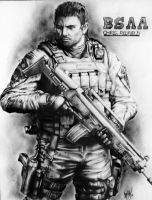 Captain, Chris Redfield by ElfsDeathBox360