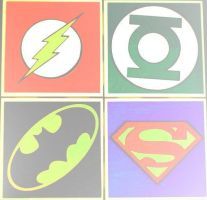The Flash,Green Lantern,Batman,and Superman by DevintheCool
