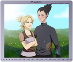 ShikaTema Calendar M 2014 March by Lu-chan11