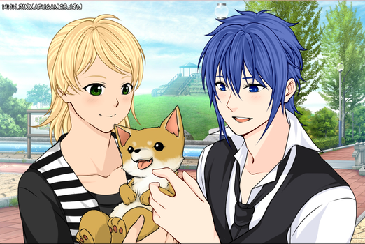 Me, my love, and an adorable corgi! by TD886