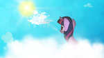 Twili in the clouds Wallpaper by Izeer