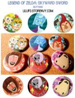 Skyward Sword Buttons by LilUFO