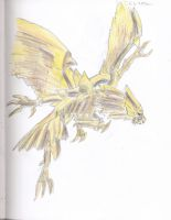 The Winged Dragon of Ra-Colored by AceOfKeys72