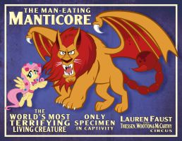 Man-Eating Manticore Poster (Clean) by tygerbug