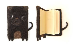 William - Pug Notebook / Journal by Poopycakes-makes