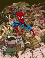 Spidey Trouble - color by andrewchandler80