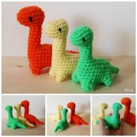 Amigurumi little dinosaur by SuniMam