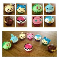 Pokemon cupcakes by xXJ3LLYB34NXx