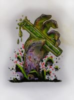 Zombie Hand 1 by Sjard