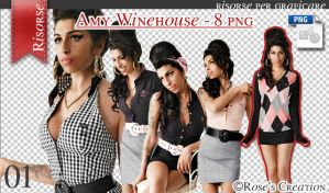 Amy Whinehouse - Pack 8 png by dreamswoman