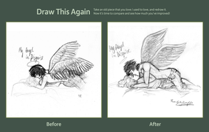 Draw this again MEME - My Angel in Disguise by ThroughMyThoughts