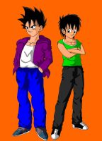 Dbz Oc': Teiko and Garna GT by caractrer-manga