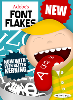 Adobe's Font Flakes by kjutenkadli