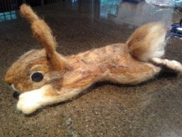 Felted Bunny by Rabbitasaur