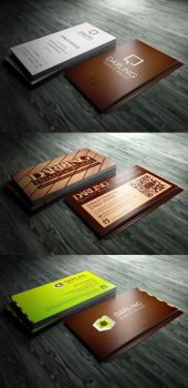 Carpentry logo design and business cards by crezo