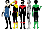 Teen Titans Male Group (Today) by CamiloSama