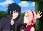 Sasuke and Sakura Road to Ninja by EmUchiha
