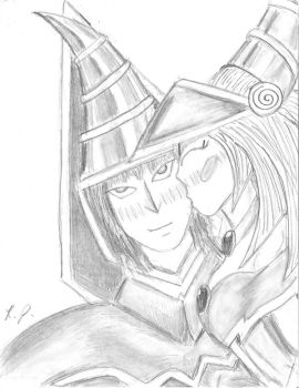 Dark Magician- The kiss by RAMTAKER