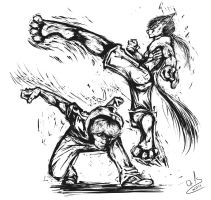 anthro vs human fight by Or1s