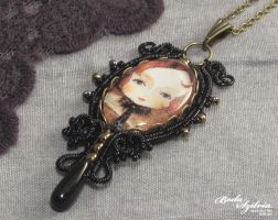 Victorian gothic necklace by bodaszilvia