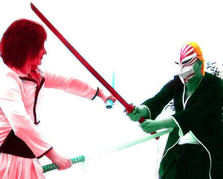 Ulquiorra vs Ichigo colorful by BertsCreator