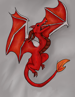 Red dragon by Lilanuts