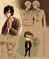 Sherlock doodles by le-prince-lutin