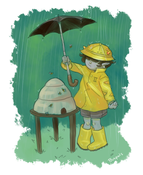 Rainy Day by Biology-of-Pencils