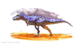 Tyrannosaur marker pic by Red-Dilopho