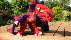 Red Dragon Crocheted - front by dariyan