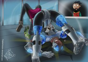 Beast Boy suplex by Captainfusion