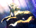 In the light and rain by falvie