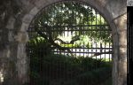 Stone Archway and Iron Fence by DamselStock
