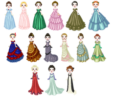 Victorian Eveningwear by lady-of-crow