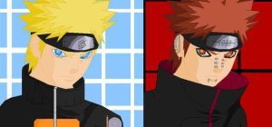 Pein and Naruto by VideoGames4Life