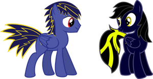 Lightning Tumble and Shadow Thunder (request) by lightningtumble