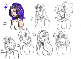 Technical Support Hair styles by kaioutei
