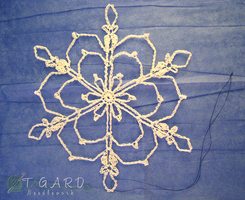 Flower Snowflake by tigardneedlework