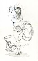 Cowgirl_Pencil by JREAGANA