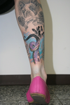 Tentacle tattoo by tuomaskoivurinne