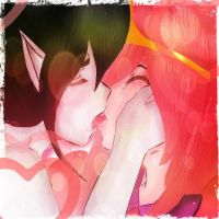 marceline x princess bubblegum by Invader-celes