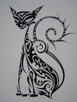 cat trible by vstattoo