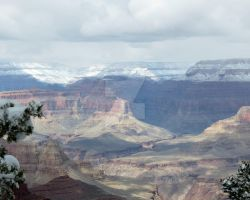Grand Canyon Shadows and Snow by LaurelPhotoandCraft